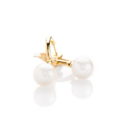 Heidi Kjeldsen Stunning Pearl and Swirl Gold Drop Earrings ALT2 ER1943 3
