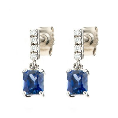 Heidi Kjeldsen Stunning Royal Blue Ceylon Sapphires and Diamond Drop Earrings ALT1 ER1722