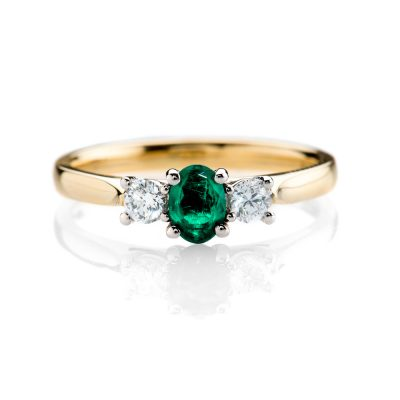 Heidi Kjeldsen Stunning Sandawana Emerald and Diamond Ring R1114