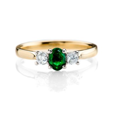 Heidi Kjeldsen Stunning Sandawana Emerald and Diamond Ring ALT1 R1114