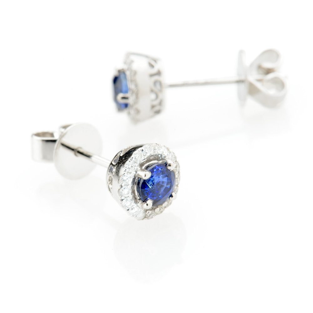 Heidi Kjeldsen Tantalising Royal Blue Ceylon Sapphire and Diamond Earrings ALT1 ER1849