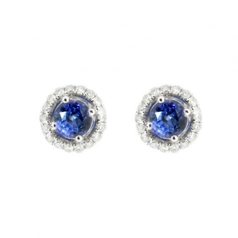 Heidi Kjeldsen Tantalising Royal Blue Ceylon Sapphire and Diamond Earrings by Heidi Kjeldsen Jewellery ER1849 A
