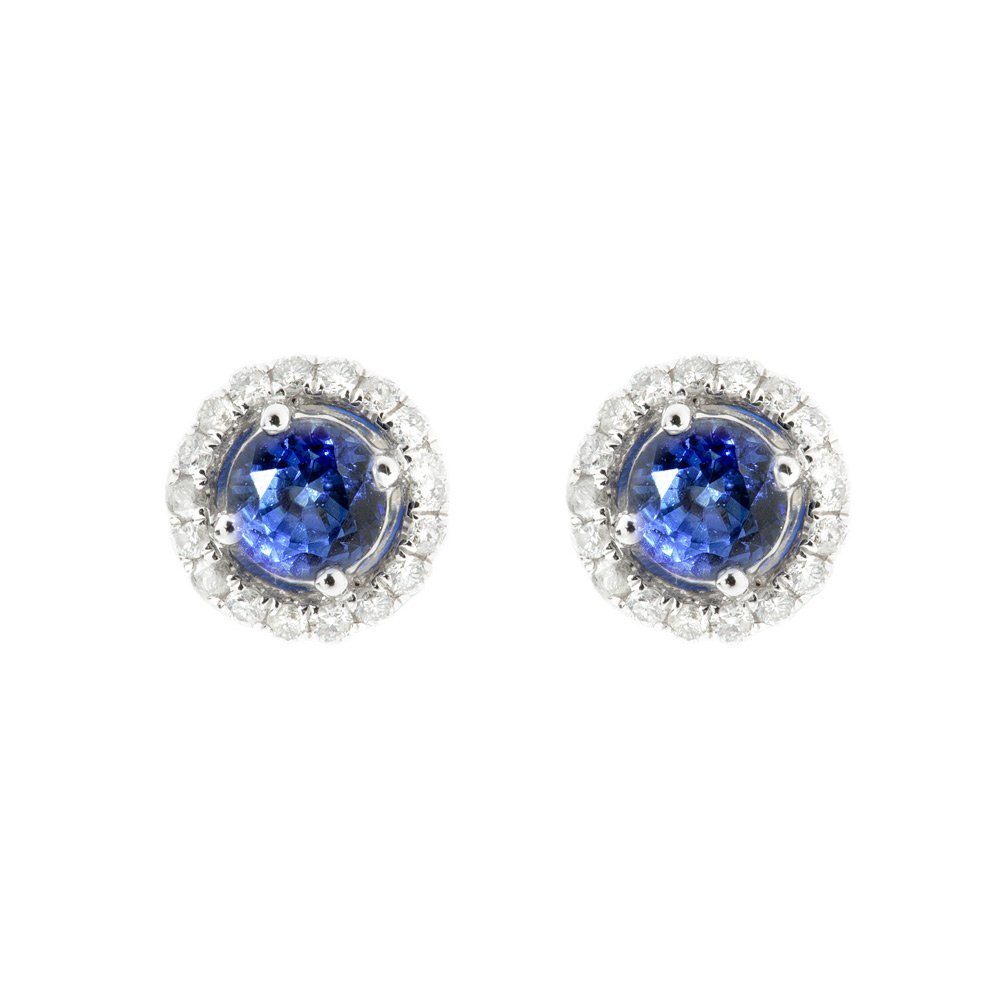 Heidi Kjeldsen Tantalising Royal Blue Ceylon Sapphire and Diamond Earrings ALT2 ER1849
