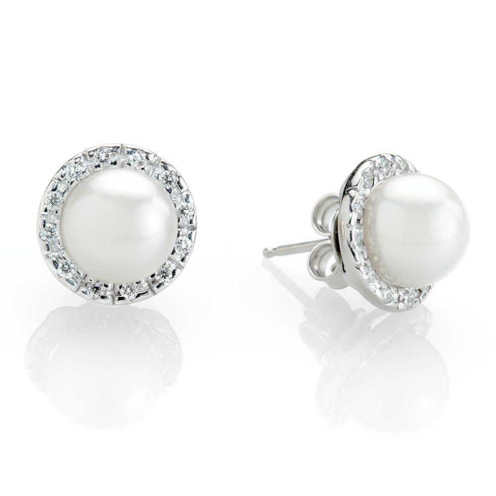 Heidi Kjeldsen Versatile Detachable Diamond Halo and Akoya Cultured Pearl Earrings Halo02+ER1798