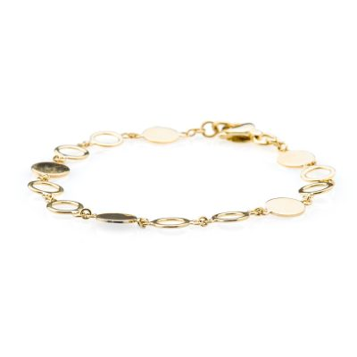 Heidi Kjeldsen Alluring Gold Disc and Circles Bracelet BL994