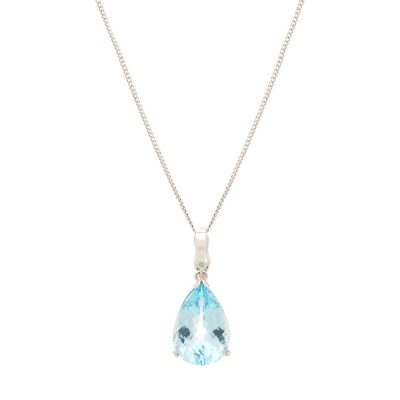 heidi kjeldsen beautiful blue topaz enhancer pendant