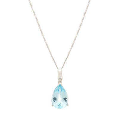 heidi kjeldsen beautiful blue topaz enhancer pendant