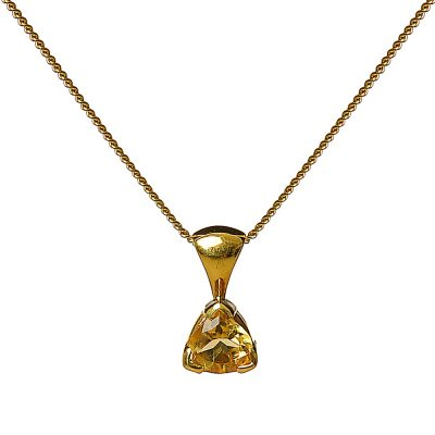 heidi kjeldsen delightful lemon citrine and gold pendant
