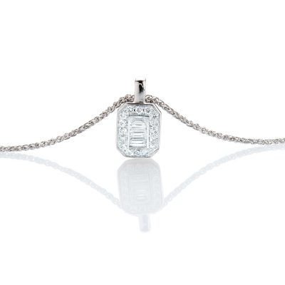 heidi kjeldsen enchanting baguette and brilliant cut diamond pendant