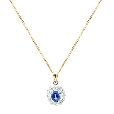 heidi kjeldsen exquisite ceylon sapphire and diamond cluster pendant