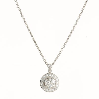 heidi kjeldsen glamorous diamond and 18ct white gold circles pendant