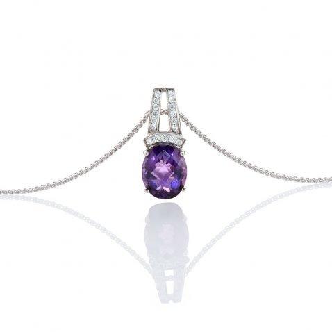 heidi kjeldsen heavenly amethyst and diamond pendant