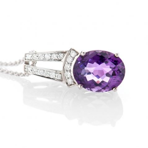 heidi kjeldsen heavenly amethyst and diamond pendant
