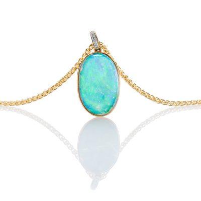 heidi kjeldsen marine blue opal and diamond pendant