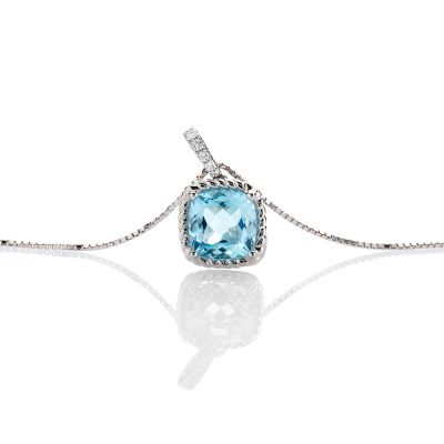 heidi kjeldsen show stopping blue topaz and diamond pendant