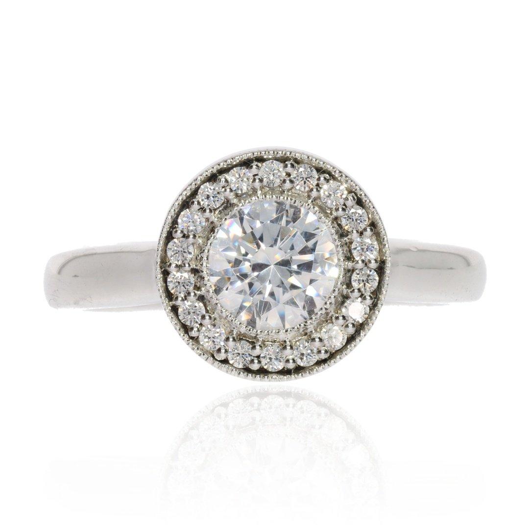 Heidi Kjeldsen Stunning Diamond Cluster Ring R1103 Front View