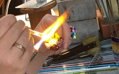 Learning new ways with glass jewellery