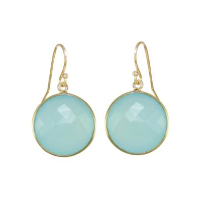 Advent Giveaways 11 - 22ct gold plated sterling silver blue round earrings