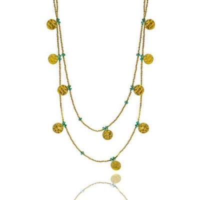 Stunning Aqua Chalcedony Long Necklace