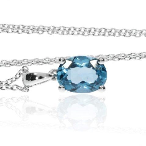 Eye-catching Blue Topaz Pendant By Heidi Kjeldsen Jewellers P1054 Side