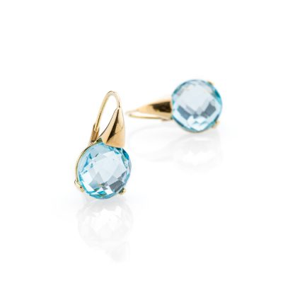 Heidi Kjeldsen Alluring Blue Topaz and 18ct Yellow Gold Drop Earrings