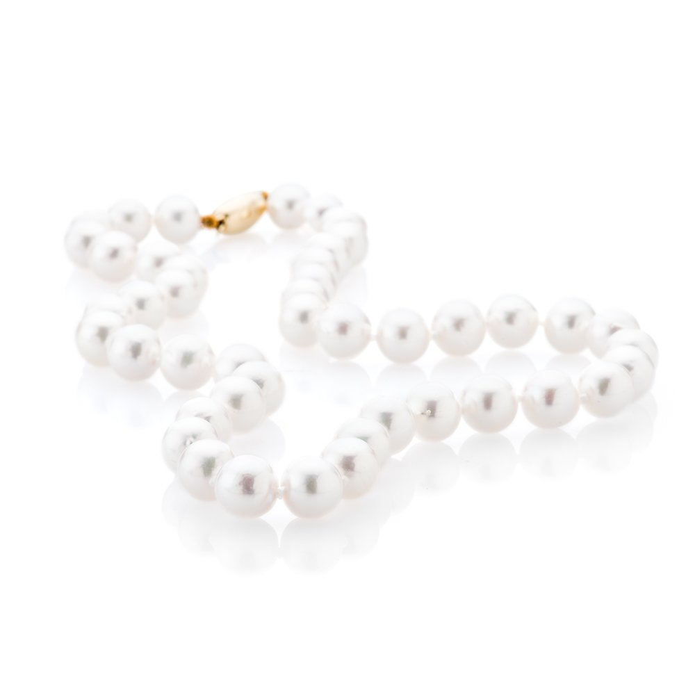 Attractive Akoya Pearl Necklace with a clasp of your choice.