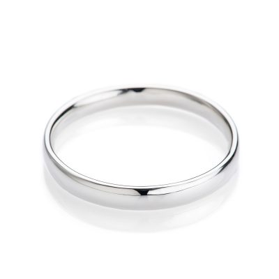 Heidi Kjeldsen Contemporary Oval Solid Sterling Silver Bangle
