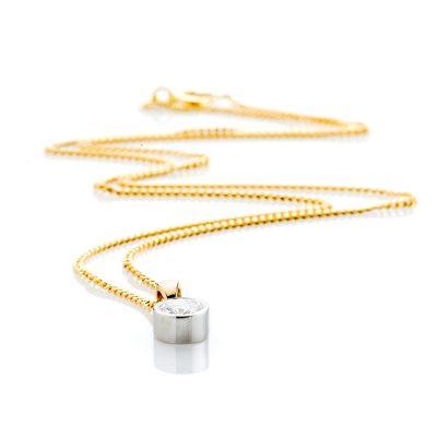 Heidi Kjeldsen Dazzling Diamond and 18ct Yellow and White Gold Pendant