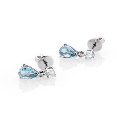 Heidi Kjeldsen Delightful Aquamarine and Diamond 18ct White Gold Earrings