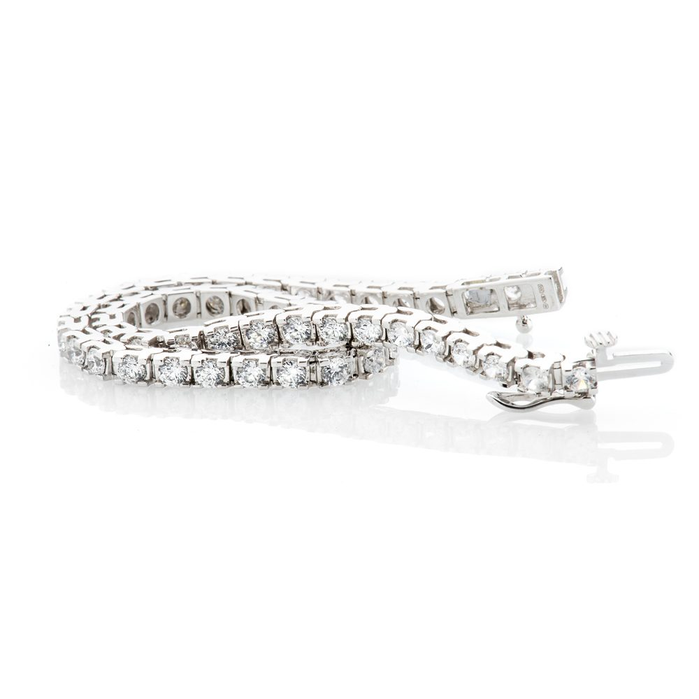 Heidi Kjeldsen Exquisite Diamond 5.00cts 18ct White Gold Tennis Bracelet