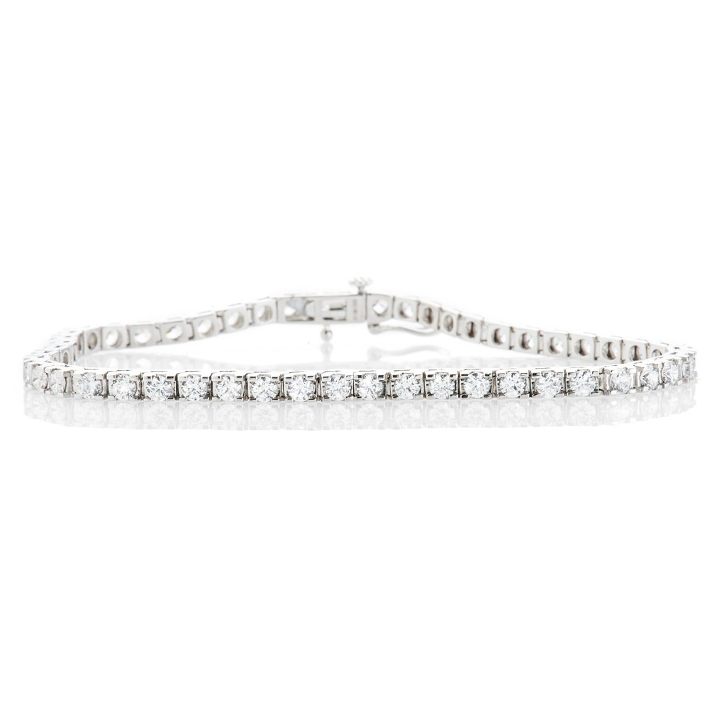 Exquisite Diamond 5.00cts 18ct White Gold Tennis Bracelet