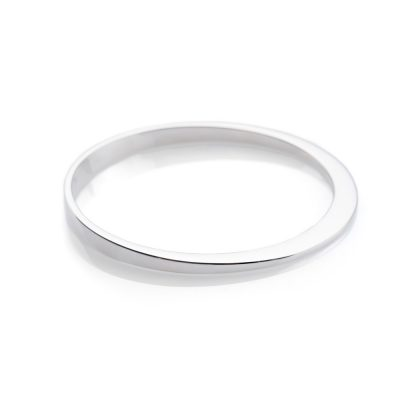 Heidi Kjeldsen Exquisite Modern Stylish Solid Sterling Silver Assymetrical Bangle