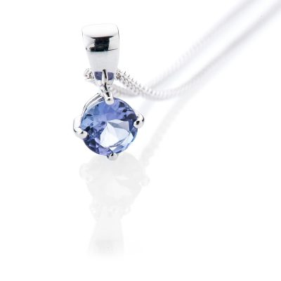 Heidi Kjeldsen Eye Catching Tanzanite and 9ct White Gold Pendant