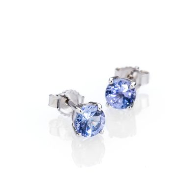 Heidi Kjeldsen Gorgeous Tanzanite and 9ct White Gold Earstuds
