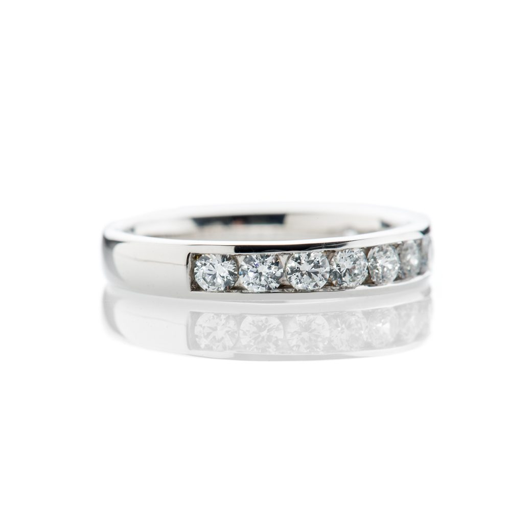 Diamond 1ct Channel Set Eternity Ring in 18ct White Gold or Platinum
