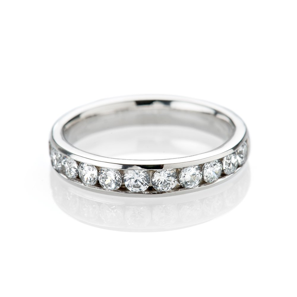 Sparkling Diamond 1 00ct Channel Set Eternity Ring In 18ct