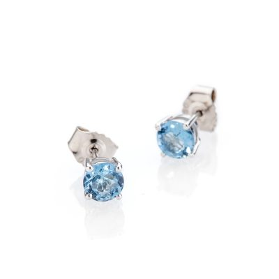 Heidi Kjeldsen Stunning Aquamarine and 18ct White Gold Earstuds