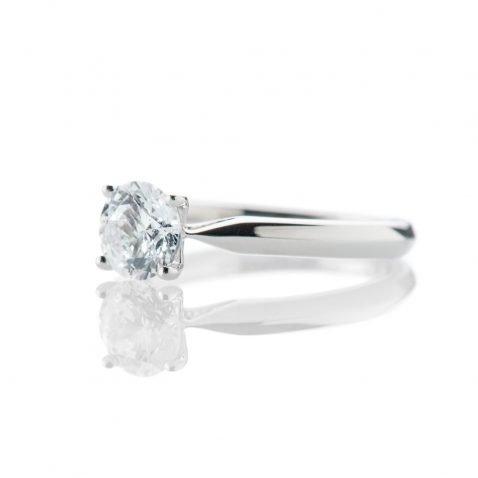 Stunning Diamond Solitaire in 18ct White Gold or Platinum By Heidi Kjeldsen jewellery R1313S Side
