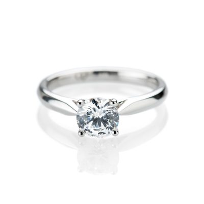 Stunning Diamond Solitaire in 18ct White Gold or Platinum