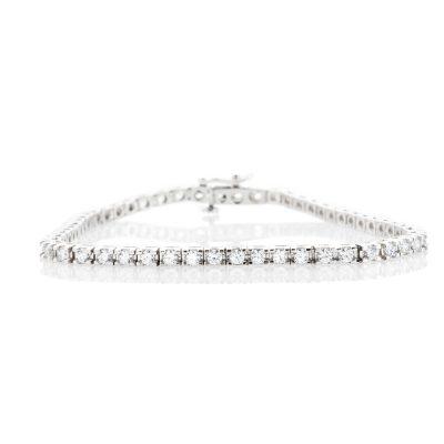 Heidi Kjeldsen Stylish Diamond 3.00cts 18ct White Gold Tennis Bracelet