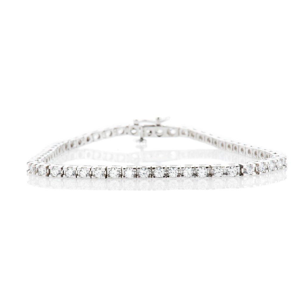 Stylish Diamond 3.00cts 18ct White Gold Tennis Bracelet