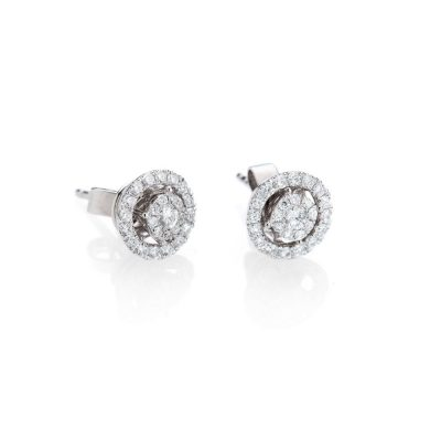 Heid Kjeldsen Versatile Diamond Clusters With Detacheable Halos Made in 18ct White Gold Earrings