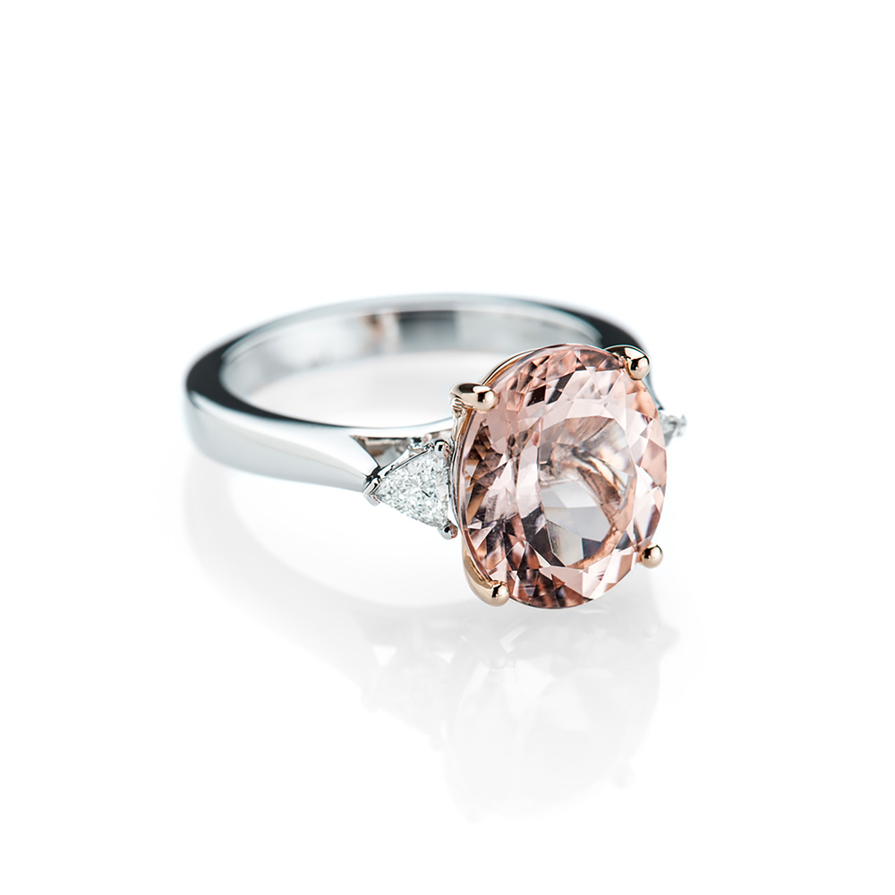 A Breathtakingly Beautiful Morganite and Diamond Ring