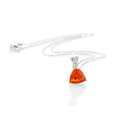 Heidi Kjeldsen A Bright and Beautiful Fire Opal and Diamond Pendant p1074+w18tr162.4-1