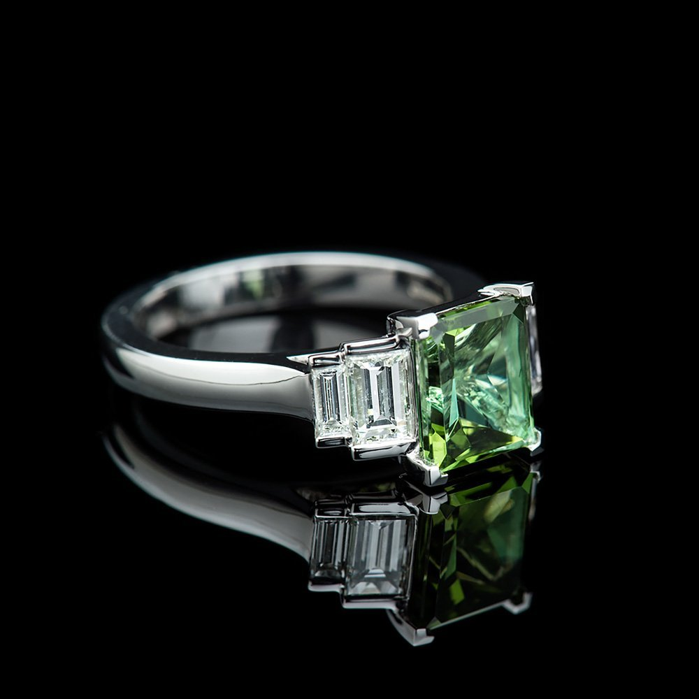 ring white diamond gold tourmaline gemstone engagement green jewellery image rings