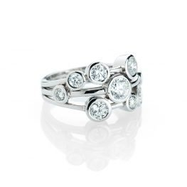 Heidi Kjeldsen A Luxurious Diamond Bubble Ring in 18ct White Gold R1158-1