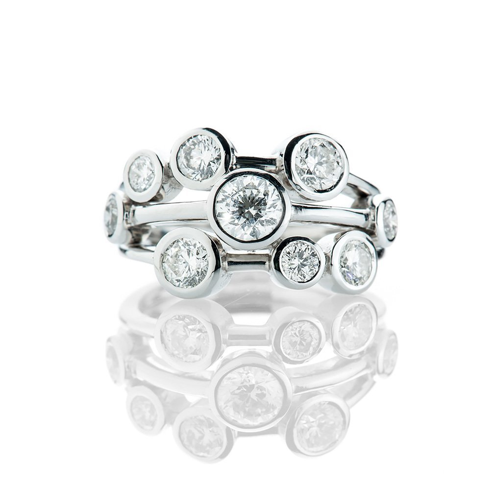 A Luxurious Diamond Bubble Ring Heidi Kjeldsen
