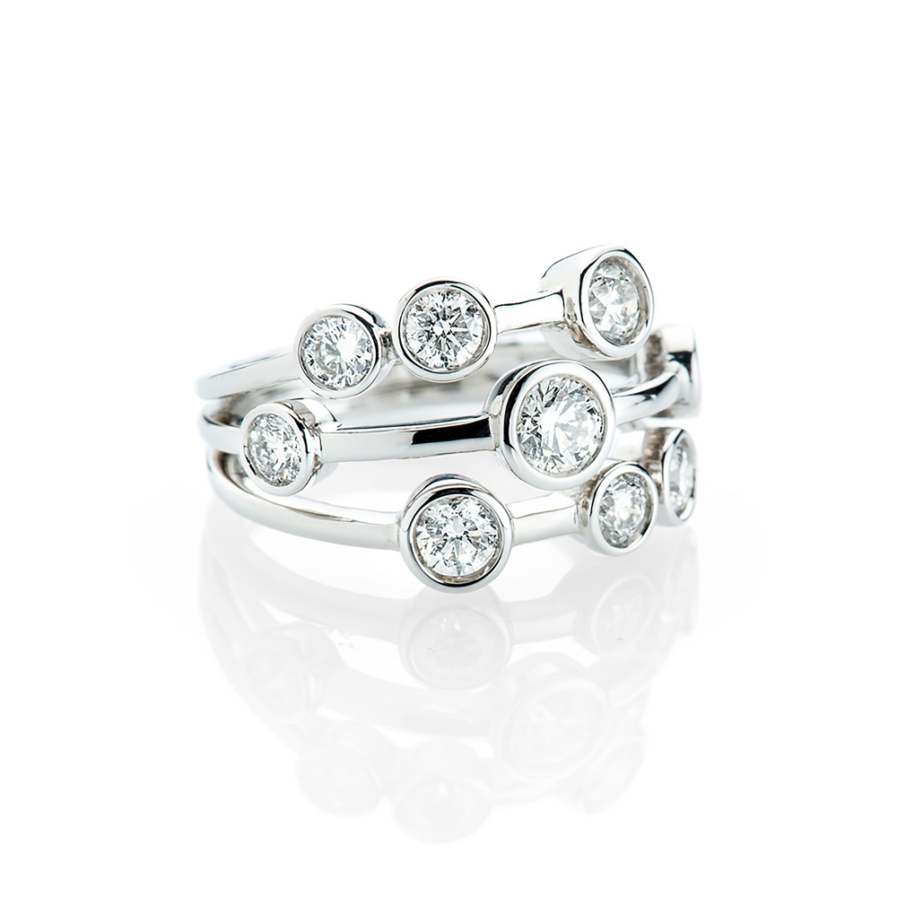 Heidi Kjeldsen A Magnificent-Diamond Bubble Ring in 18ct White Gold R1157-1