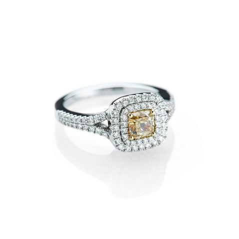 Heidi Kjeldsen An Awe inspiring Yellow Diamond and Diamond White Gold Ring R1153-1