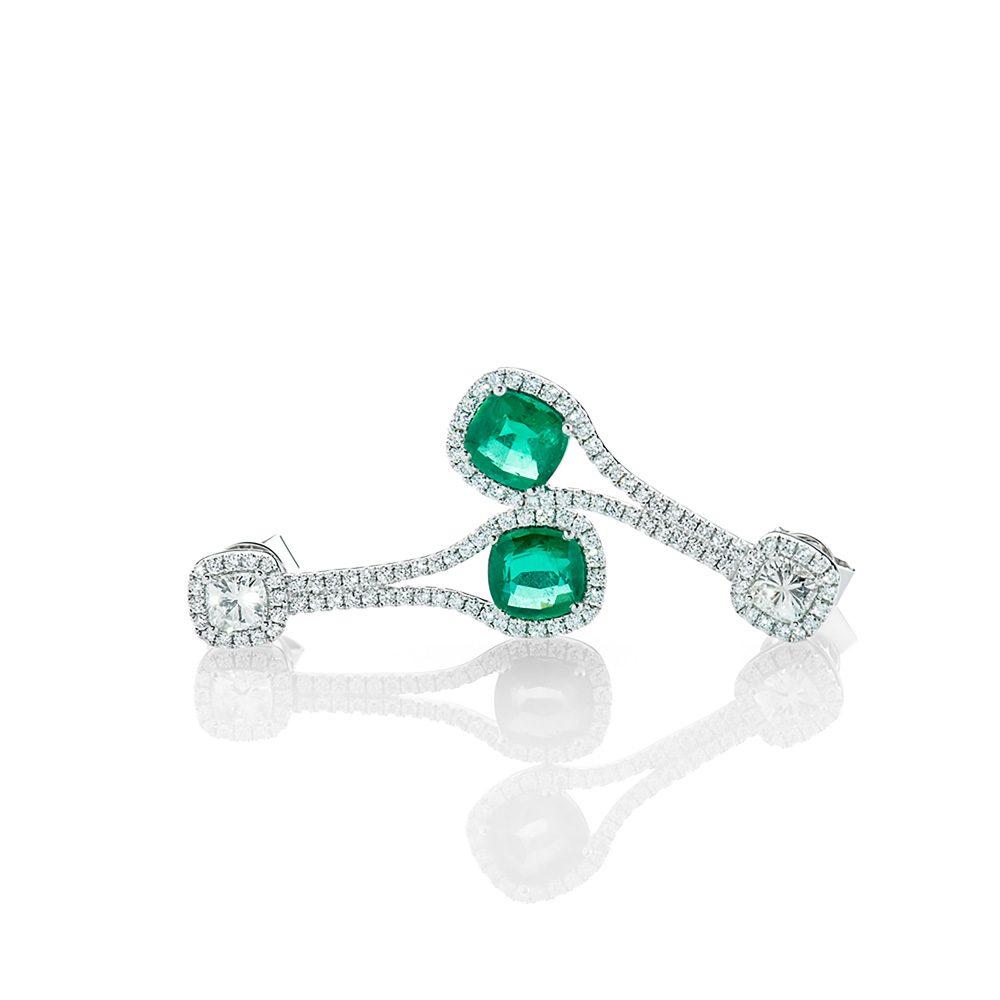 Heidi Kjeldsen Astonishing Emerald and Diamond Drop Earrings ER2205-1